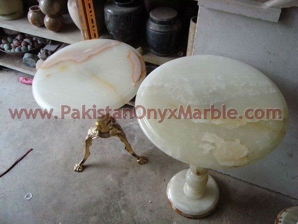 pure natural colored white onyx table