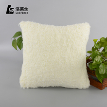 Factory price custom design comfort white plush backrest cushion for sofa