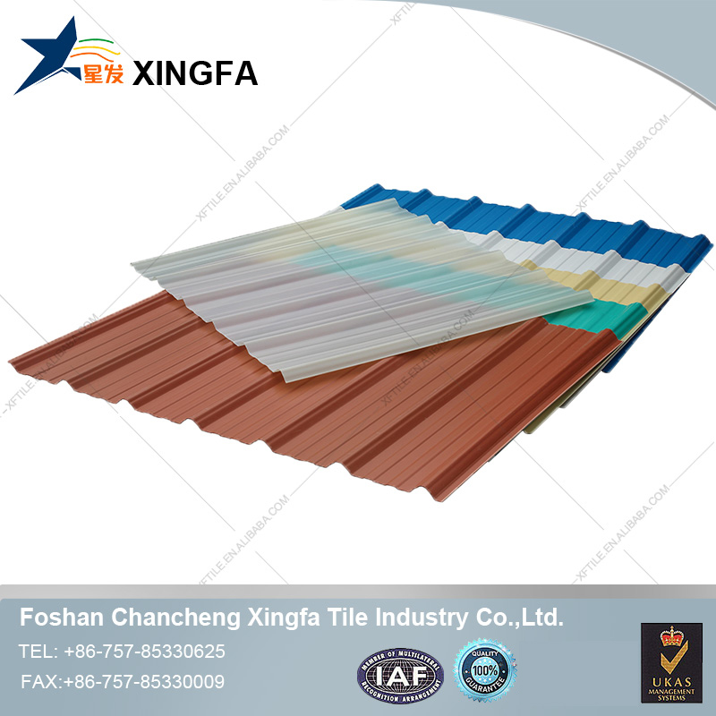 New flexible installation carport roofing material plastic APVC roof tile