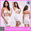 Wholesale Hot White Spaghetti Strap Bodycon Sexy Bandage Dress