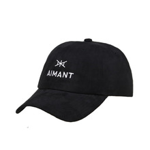 Wholesale Unstructured Black Cotton Embroidery Logo Distressed Plain 6 Panel Custom Dad Hat