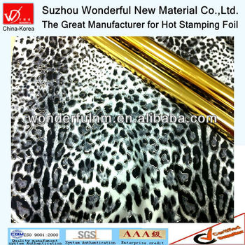 Positioning Hot Stamping Foil for textile