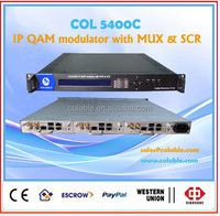 digital cable tv system headend 8 in 1 RF modulator with CAS COL5400C