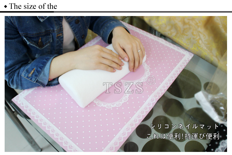 Fashion Washable Japanese Lace Manicure Table Mat Lovely Desk Pad