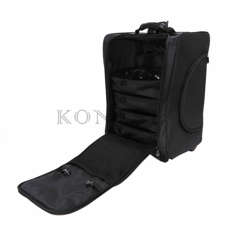 KC-N46S Lady Brand Professional Portable Trolley Case Makeup Train Case