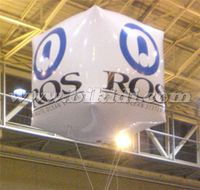 Custom square PVC inflatable helium custom cube balloon K7162
