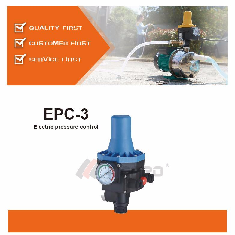 EPC-3 water pump automatic electronic pressure control switch