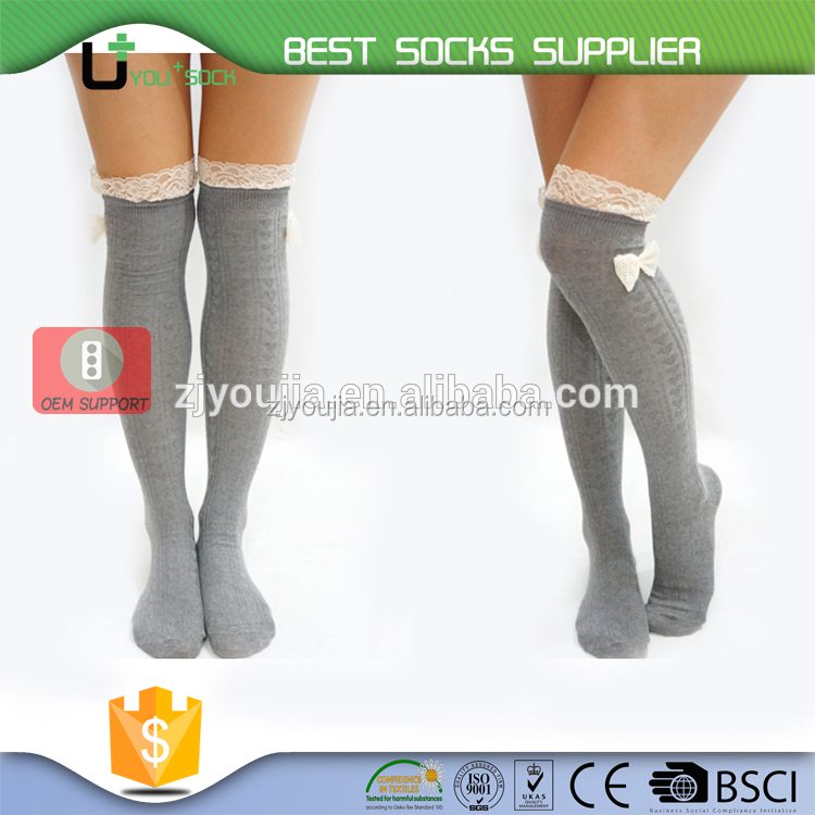 U+ A -0653 girls bow socks
