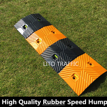 Reflective Speed Rubber Road Hump Traffic Safety Speed Bump