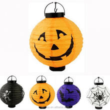 Halloween Decoration Paper LED Lantern Hanging Pumpkin Lamp Party Home