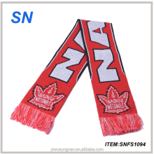 OME Custom soccer jaquard knit football club scarf