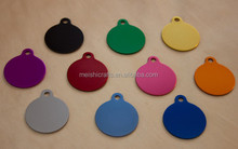 ENGRAVED Round SHAPE PET TAG NAME DISC, FOR CAT / DOG