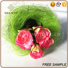 decorative indoor sisal yarn flower pot holder