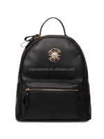 Promotion hard laptop school leather backpack , travel bags