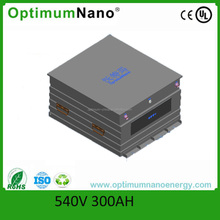 IP55 540v 300ah LiFePO4 electric bus battery with smart BMS