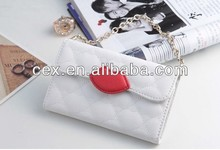 Wholesale - Fashion Lip Prints Design Wallet Flip PU Leather Case Cover With Credit Card Slot Slots Pouch For iphone 5 5G