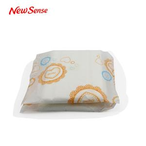 China Factory Price Herbal Sanitary Pads With Fantail Shape Wing
