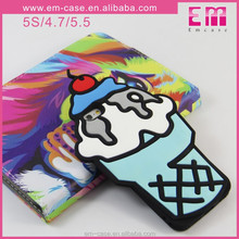 For iPhone 6 New Design Ice Cream Silicone Phone Skin,Summer Colorful Cover Case for iPhone 6