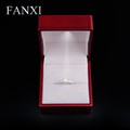FANXI Wholesale Luxury Red Color Rubber Paint Led Light Jewelry Boxes For Wedding Proposal Ring Packaging Box