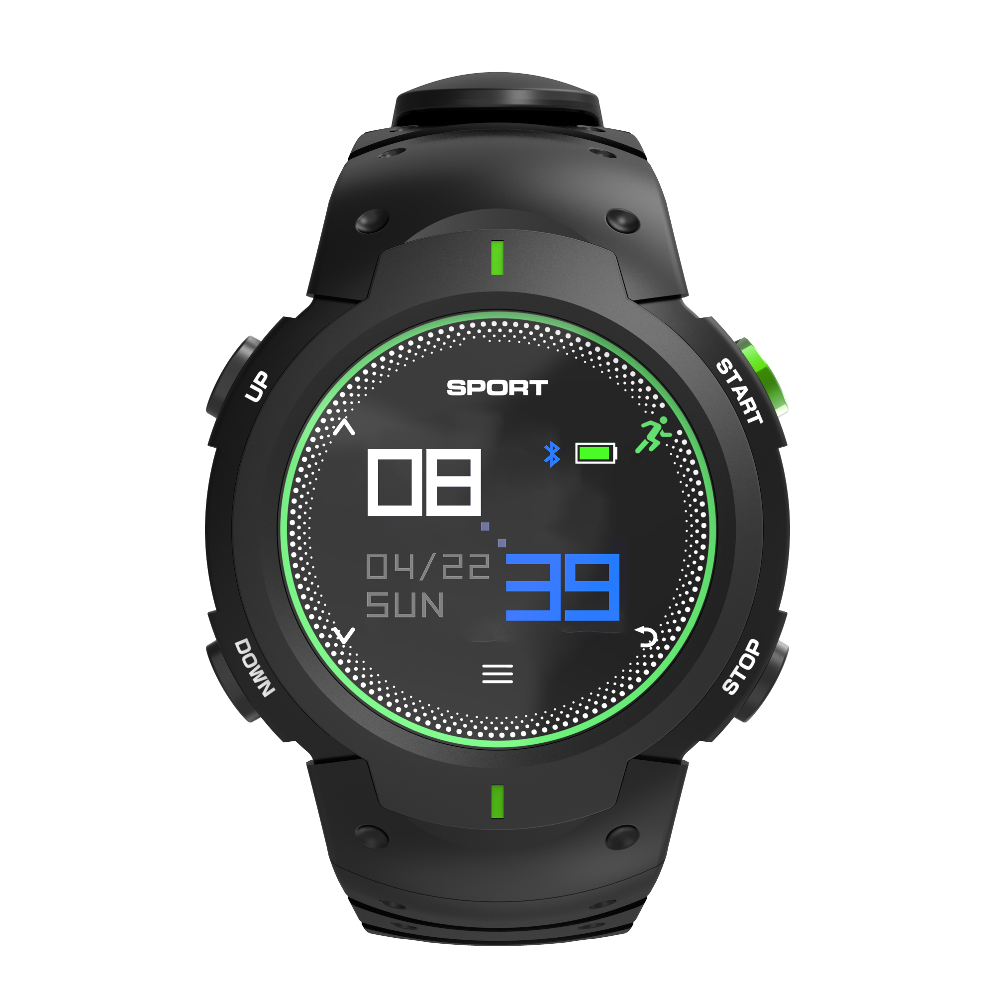 The high quality sports fitness smart watch GPS smartwatch with big battery for android and iOS