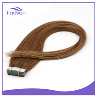 Highest quality tape hair extension 100% virgin cuticle tape in hair extension