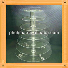 An-b716 european design factory sell acrylic tube cake stand/wedding cake stand crystal/glass cake stand