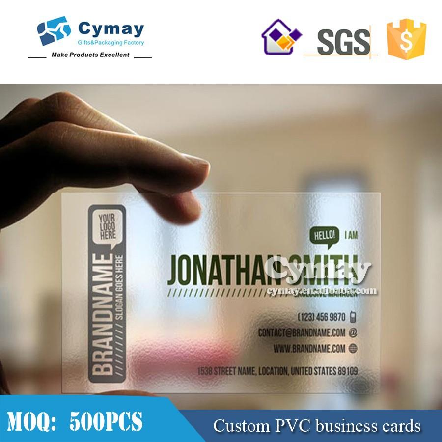Carte De Visite Transparente En Pvc Impression Cartes VisiteDes Plastique