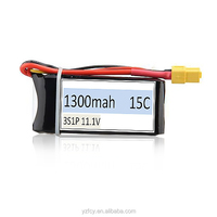 RC lipo battery for Airsoft gun battery 1300mah 11.1v 3s 15C