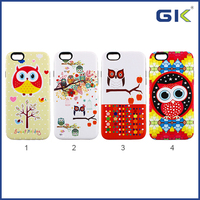 [GGIT] Cute Owl Pattern Design Back Cover 2 in 1 TPU+PC Combo Case For IPhone 6