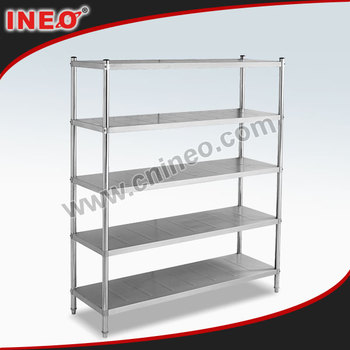 5 Layer Vertical Stainless Steel Metal Storage Shelf/Metal Rack Kitchen Stand Kitchen Shelf/Stainless Steel Kitchen Corner Shelf