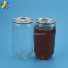 206# plastic soda can clear