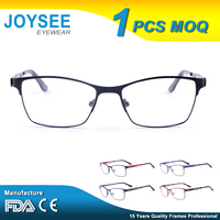 Free Sample Joysee Manufacturers Company Branded Classic Design Woman And Man Metal Optical Eyewear Glasses Frame