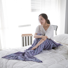 As Picture Or Custom color girls mermaid tail blanket of China National Standard