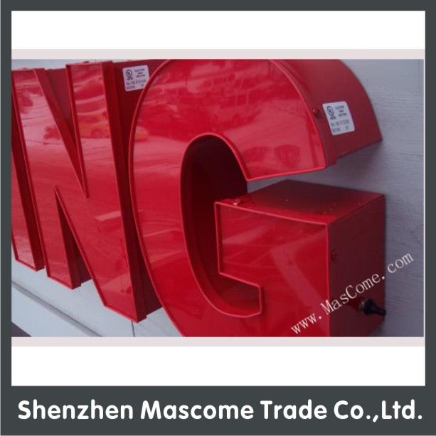 AOTO CE UL Slim plastic light up letters for sign box