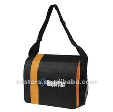 Orange business messenger bag with eco non-woven