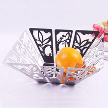 Exquisite silver serving tray stainless steel fruit tray