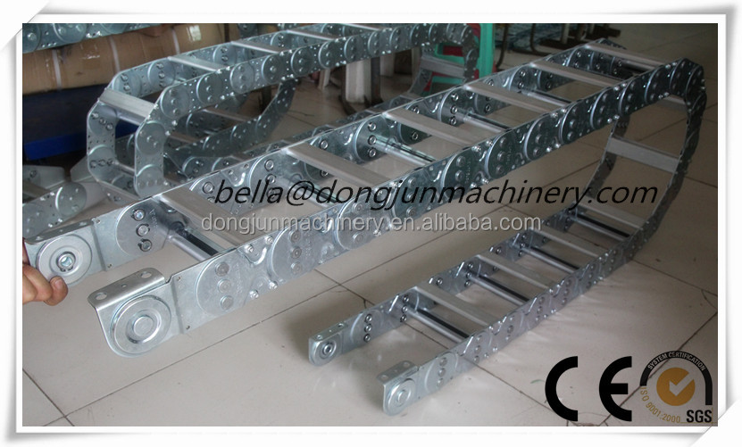 stainless steel cable carrier flexible steel cable drag chain by Dongjun company in China