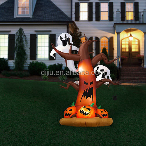 Halloween Yard Pumpkin Inflatable Light Decor Tree Decor AirBlown Decoraton New