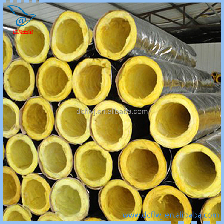 9mm Thickness Foam Insulation Fiber Glass Wool Insulation Pipe