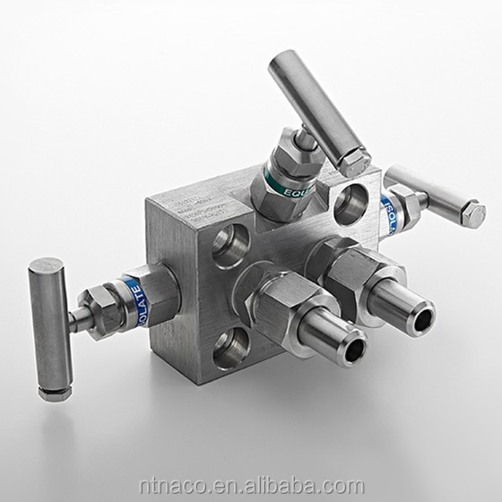 High Pressure Stainless Steel 3 Valve Manifold for Oil Gas from China Supplier