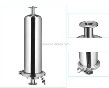BJQ Series Gas stainless steel Filter Housing CO2 filtration 0.2micron PTFE filter cartridge 5inch 5""