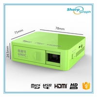 In Stock!!! UNIC DLP Pico Projector Hot Cheap HDMI mini 3D Rechargeable Full HD 1920X1080p LED Home Proyector UC50