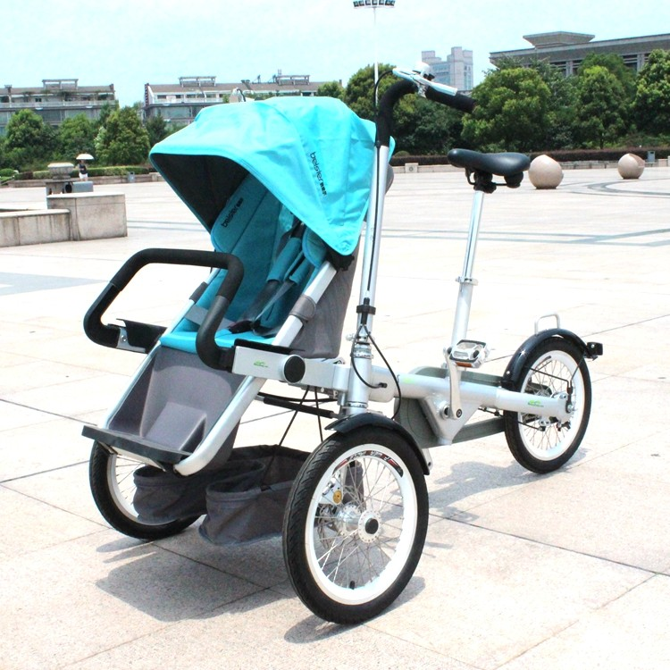 3 Wheel Baby Buggy Baby Pram For Mom Mother And Baby Folding Bike