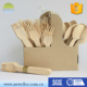 Home use multi-purpose cheap wooden cutlery sets with custom printed