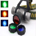 4-Color 1xCREE Q5 3-Mode Zooming An Infinitely Variable LED Headlamp Coming with 3 Colorized Filter Lens (1x18650)