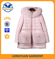 2016 New Products Fashion Designer Pink Warm Clothes for Girls, Women Down Jacket for Winter