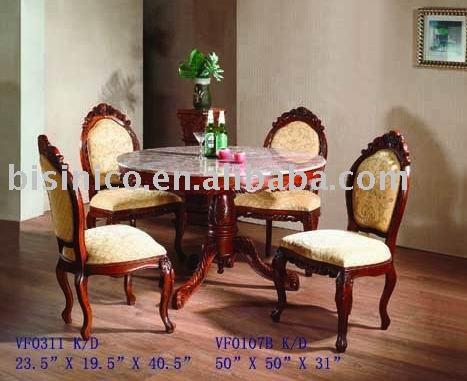 Classica sala da pranzo insieme tavolo da pranzo rotondo - Mobili per sala da pranzo classici ...