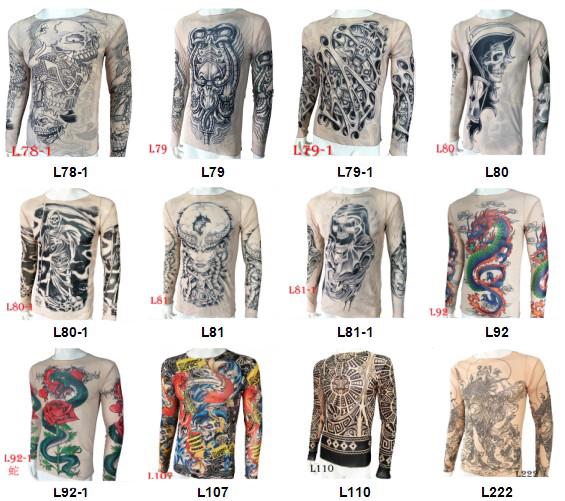 KaPin high quality fashion women men elastic tattoo t-shirts ...