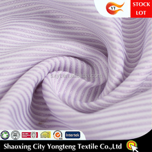 STOCKLOT HOT SELLING SOFT hand feeling classical stripe design wholesale shirting fabric