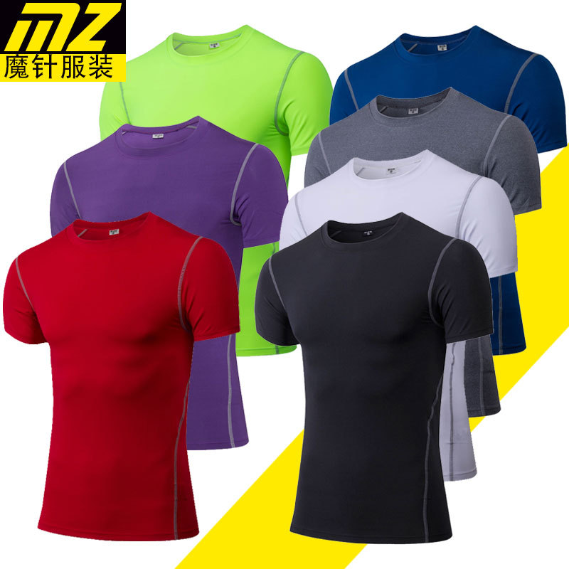 2017 new arrivals Men Compression Wear Under Base Layer Tops Tight Short Sleeve T-Shirts
